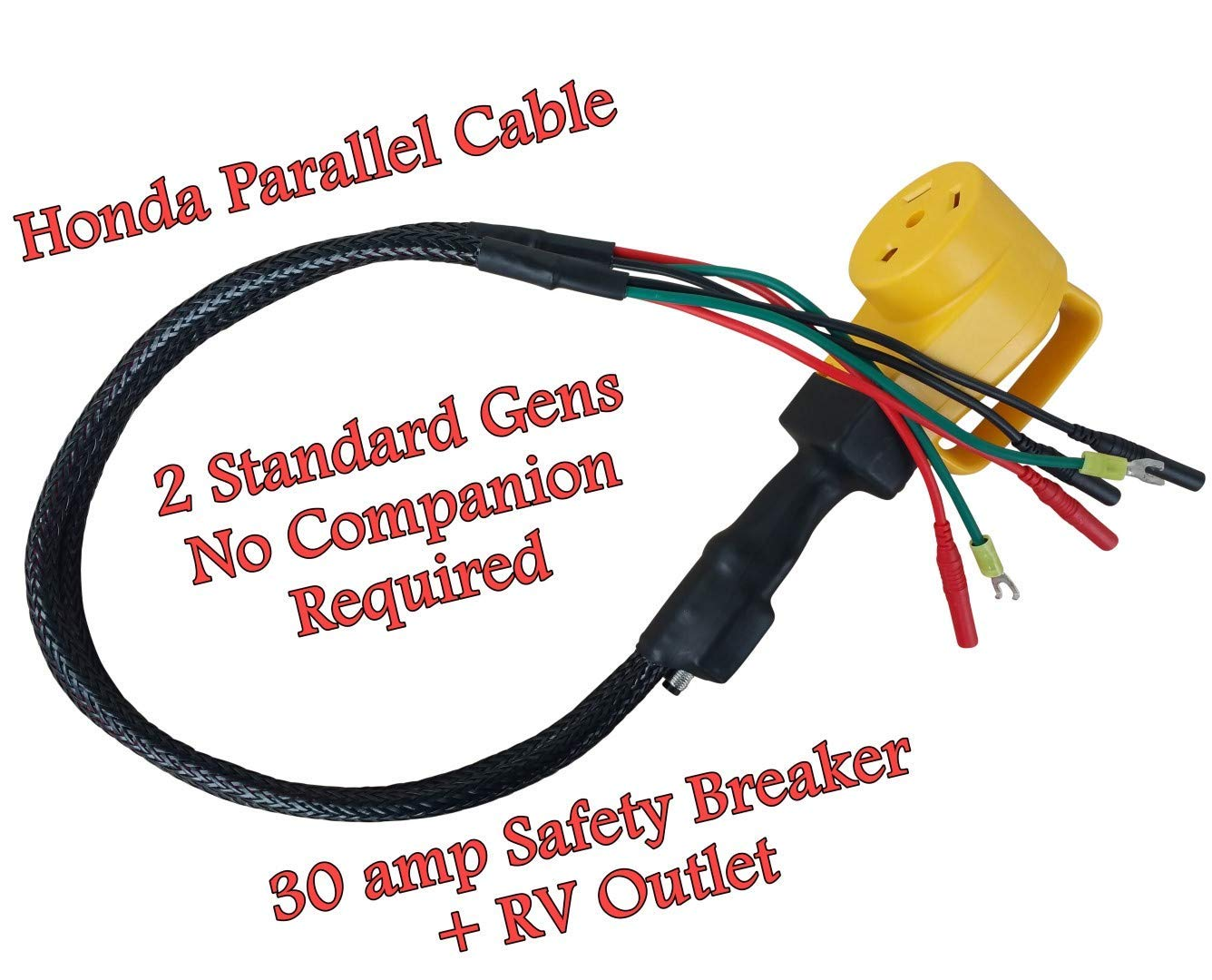 Hutch Mountain Parallel Any 2 Eu2200i / EU2000i Honda Genertor - no Companion Needed - Cable by Hutch Mountain