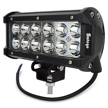 Amazonfr Safego W LED Barre De Travail Phares Longue Portée - Feux longue portée led