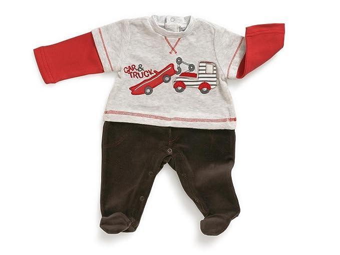 Jacky pijama con pies Boys, diseño de coches, 322433