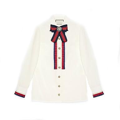 82e980b8630a Gucci Femme 451007ZIK219220 Blanc Coton Chemise  Amazon.fr ...