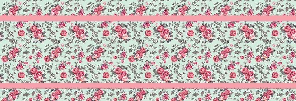 Floral Pink & Green Bed Runner Scarf Twin/Full/Queen/King Size by Unique Textile Printing