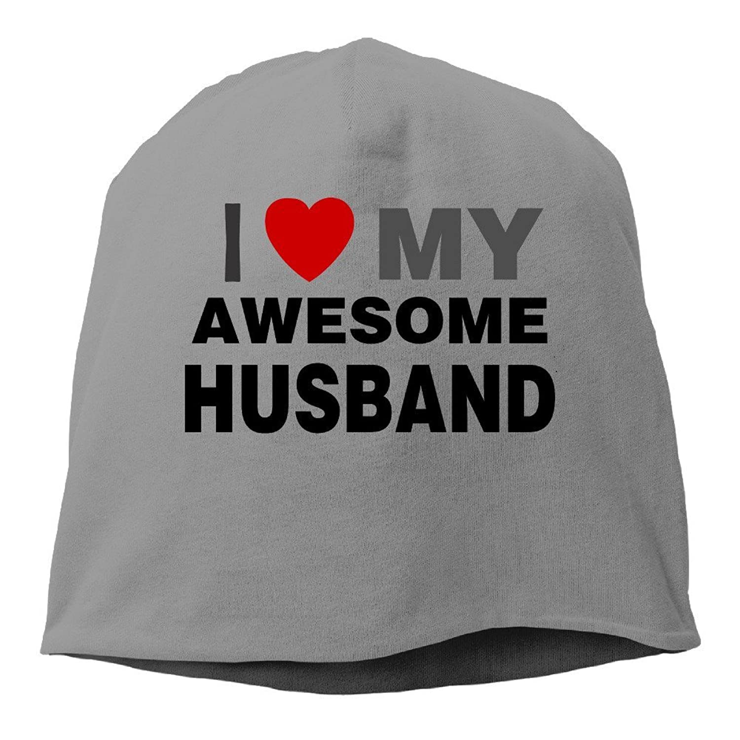 Mens Womens I Love My Awesome Husband Couple Slouch Beanie Skull Hat