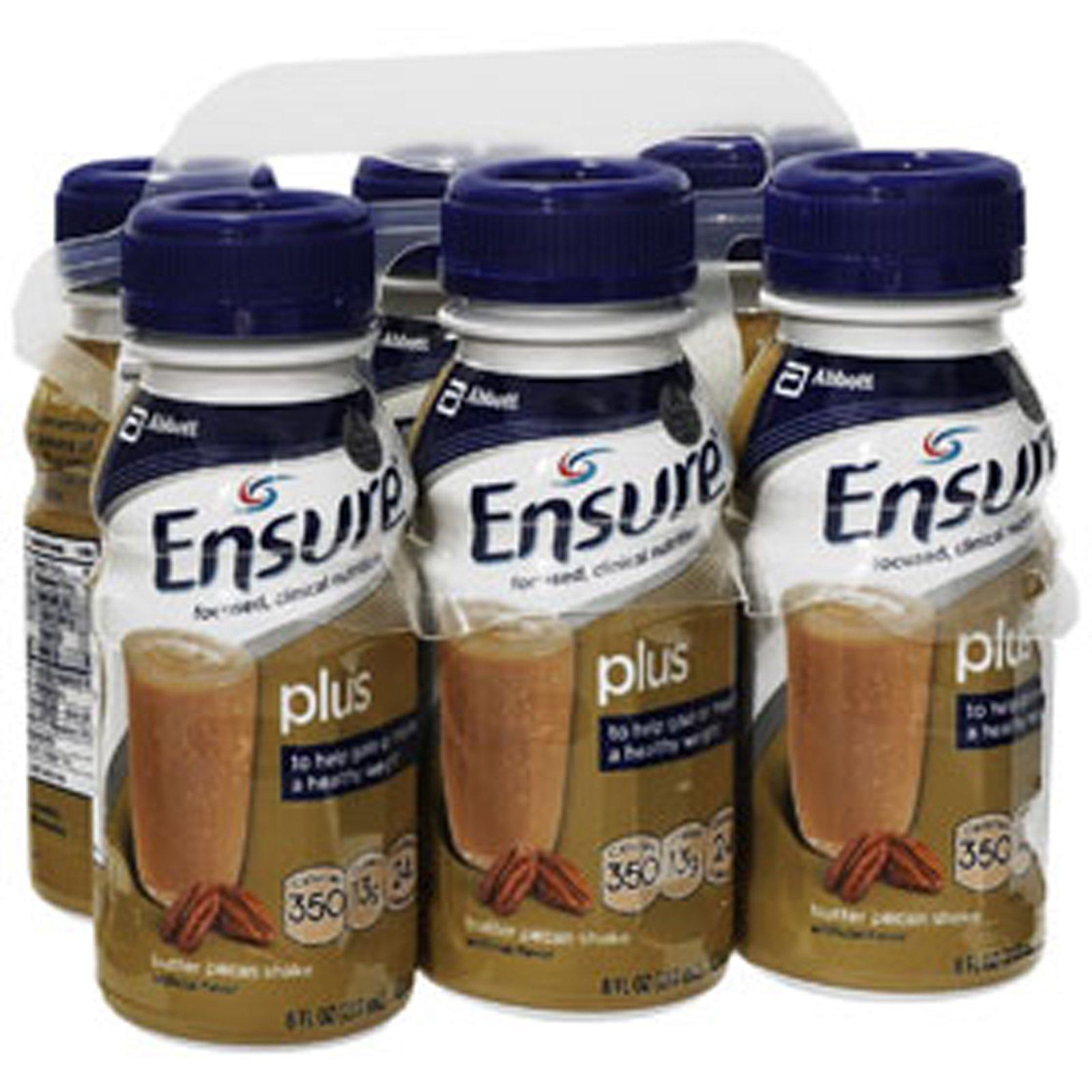 Ensure Plus Butter Pecan Shake, 24 - 8 oz, Pack of 3