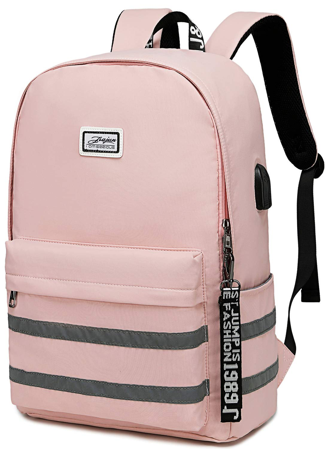 Girls School Laptop Backpacks Travel Womens College Backpack School Bag 15.6 inch USB Daypack Outdoor (9301 Pink) by BLUBOON