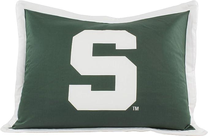 Michigan State University Pillow Sham with Jersey Mesh