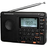 Retekess V-115 Radio AM/FM Stereo with Portable Shortwave Transistor MP3 Player REC Voice Recorder Support T-Flash Card…