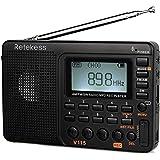 Retekess V115 Portable AM FM Radio with Shortwave Radio MP3 Player Digital Record Support TF Card Sleep Timer and…