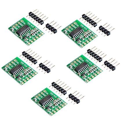 CHENBO(TM) 5 Pcs HX711 Weighing Sensor Dual-Channel 24 Bit Precision A/D  Module Pressure Sensor