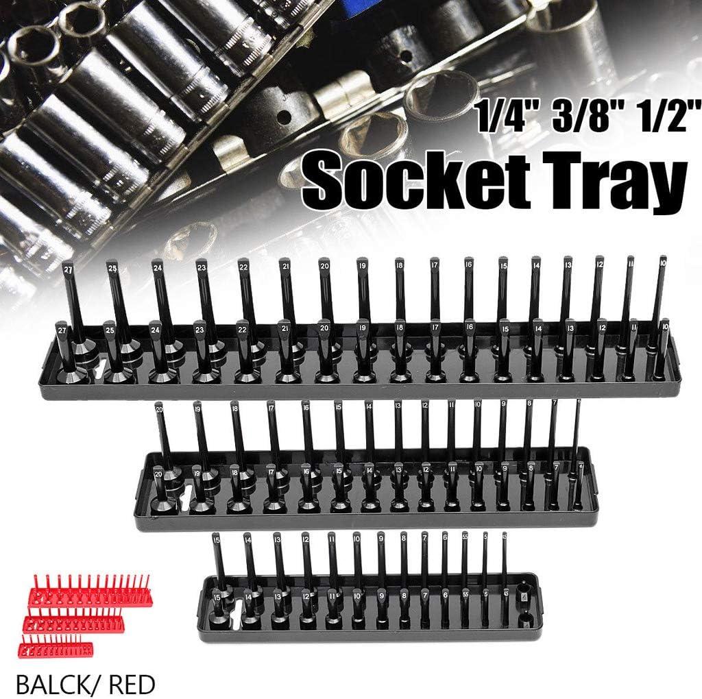SM SunniMix 3pc Plateau /à Outils Organisateur Socket Tray Douille Rangement Noir