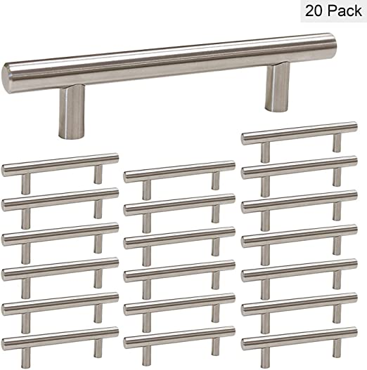 Kitchen Cabinet Knobs Brushed Nickel 25 Pack Drawer Knobs homdiy HD201SN Bathroom Cabinet Hardware Knobs 2in Overall Length Single Hole Drawer Pulls and Knobs for Dresser Drawers