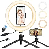 """10.2"""" Selfie Ring Light with Stand, Phone Holder and Bluetooth Remote, LED Circle Light Ring for Live Stream/Makeup…"""