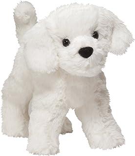 Amazon Com Ralph The Dog 9 White Plush Stuffed Animal By Ganz