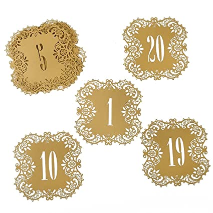 Amazon Yufeng Wedding Table Card Numbers Lace Table Cards For