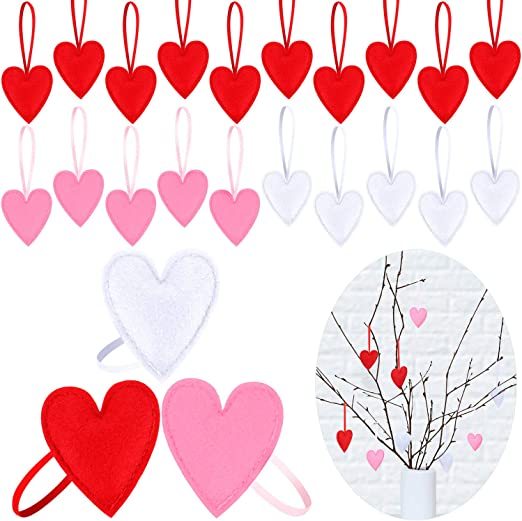"10 Mini 4/"" Heart Cutouts Table Hanging Decor Anniversary Valentine/'s Day Party"