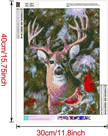 Kissme8 5D Diamond Painting Kits Full Drill Large Size Deer Family 50X40cm DIY Diamond Art Painting Arts Embroidery Cross Stitch Craft Pictures Home Wall Decor
