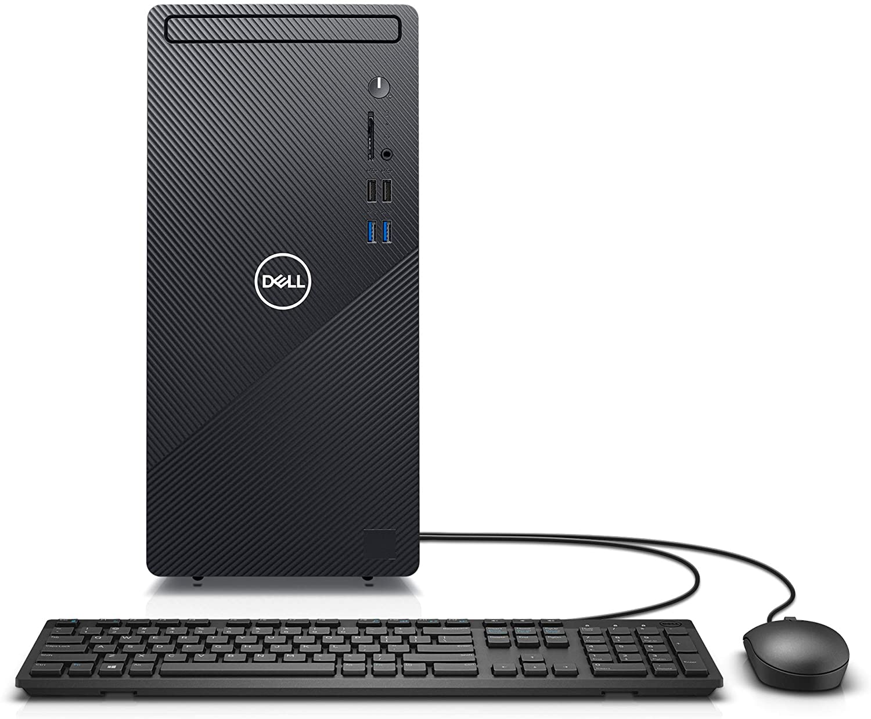 Dell Inspiron 3880 Desktop Computer - Intel Core i5 10th Gen, 12GB Memory, 512GB Solid State Drive, Windows 10 Pro, 2 Year On-Site (Latest Model) - Black