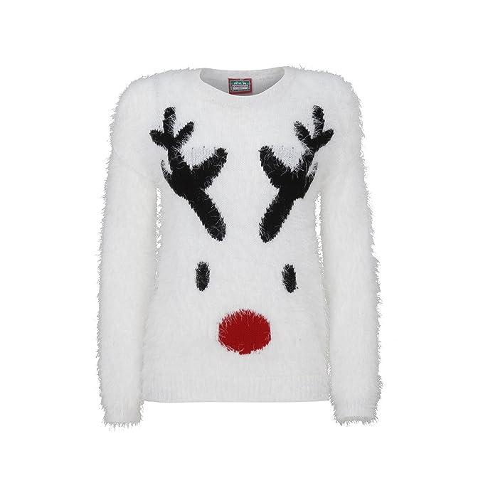 nuovi stili 6f463 4a3c7 Christmas Shop - Maglione di Natale con Renna - Donna (XS ...