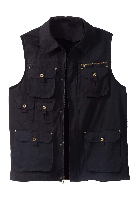 Boulder Creek by Kingsize Mens Big /& Tall Multi-Pocket Vest