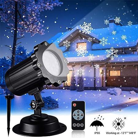 Proyector De Copo De Nieve De Navidad Nevadas LED Luces De ...