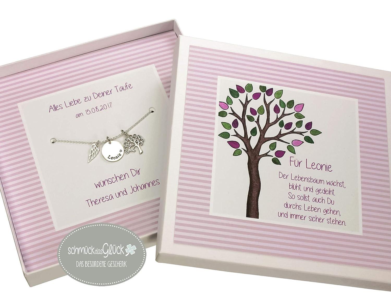 Taufkette Mädchen Baum Des Lebens Silber 925 Mit Gravur Und