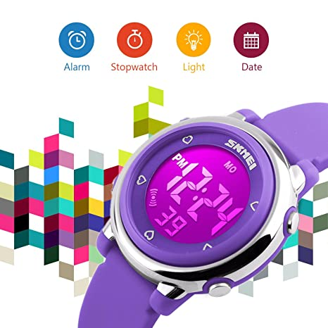 Amazon.com: Reloj digital luminiscente eléctrico con ...