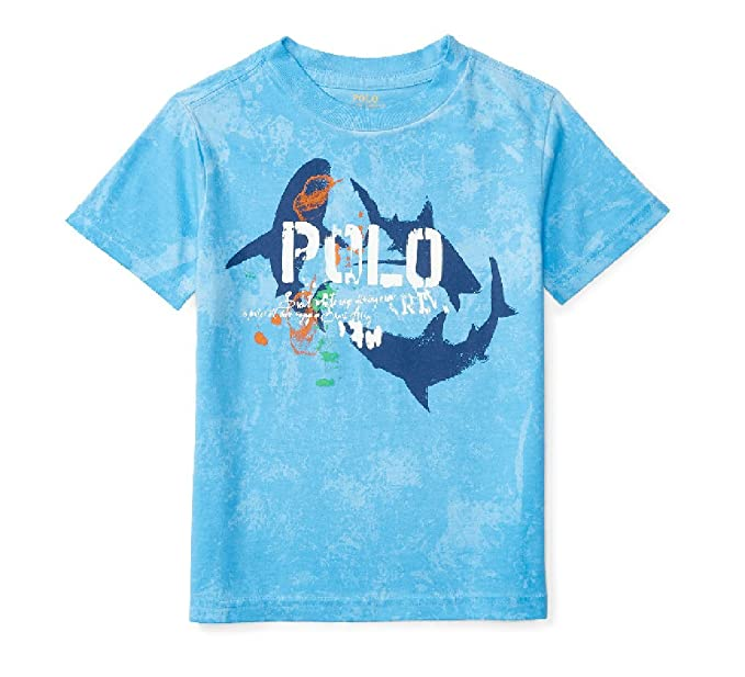 3e91f488b1 Amazon.com: Ralph Lauren Baby Boys Cotton Jersey Graphic Tee: Clothing