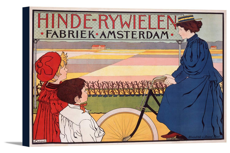 hinde-rywielenヴィンテージポスター(アーティストvan Caspel )オランダC。1896 18 x 12 Gallery Canvas LANT-3P-SC-74888-12x18 B01EBQHLAA  18 x 12 Gallery Canvas
