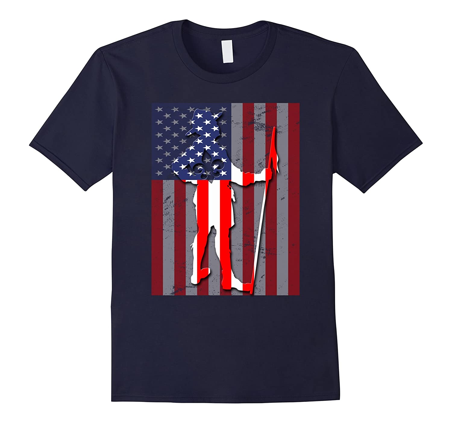 Boy Scouts American Flag T-Shirt Special Gift-Art
