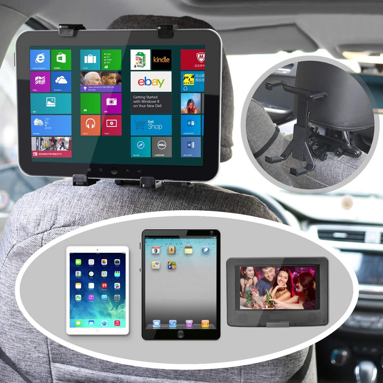 bedee Supporto Tablet Auto Poggiatesta, Universale Rotazione di 360° poggiatesta sedile posteriore auto per iPad 2/3/4 / Mini/Air/Lettore DVD, Samsung Galaxy Tab e tablet da 7 a 12 pollici