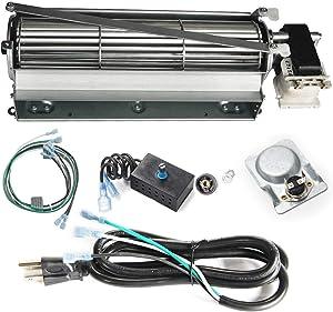 VICOOL GFK4 Fireplace Blower Fan Kit Compatible with Heatilator, Majesti, CFM, Vermont Castings, Monessen; Rotom #HBRB74K