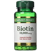 Nature's Bounty Biotin 10,000 mcg, Rapid Release Softgels 120 ea ( Pack of 2)