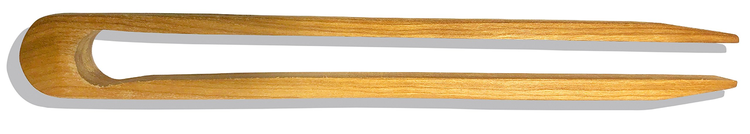 Premium Cherry Wood Toaster Tongs | Wooden Kitchen Tongs & Great Hand Made Gift | Food Safe by Michigan Wooden Spoon