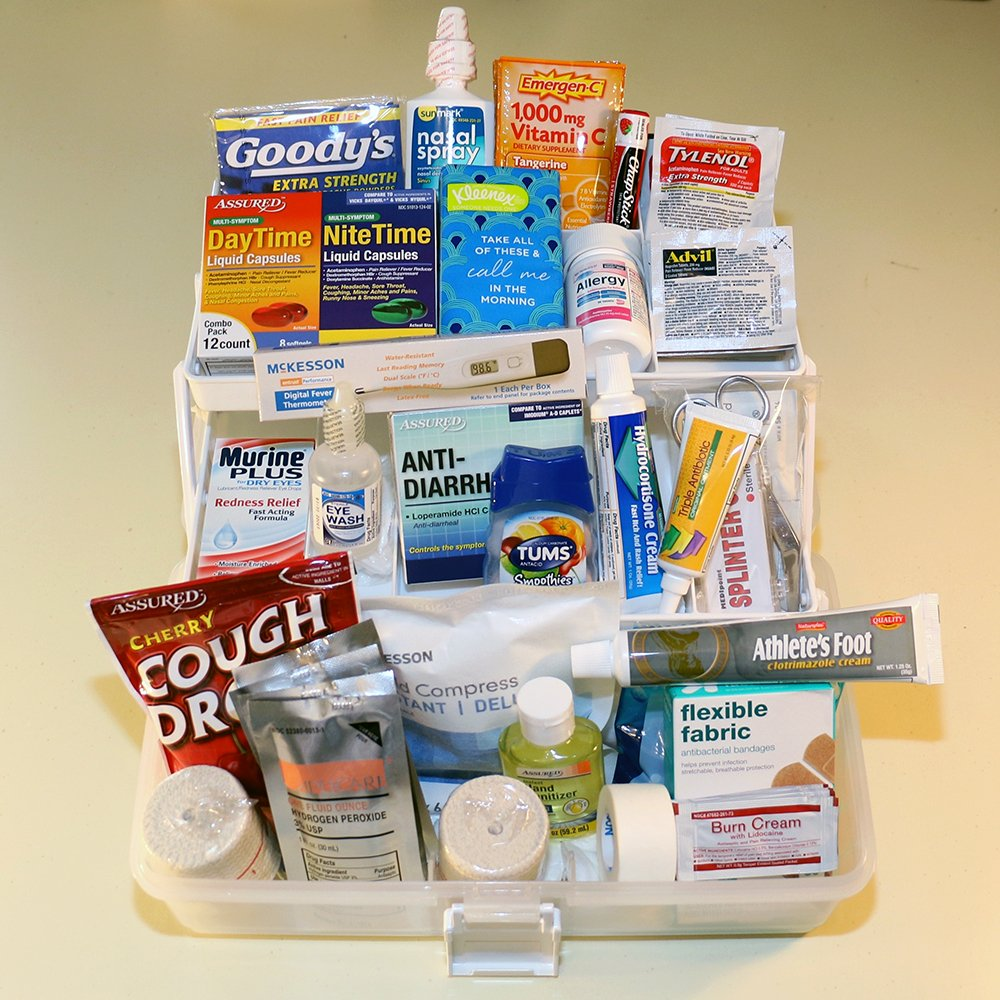 The College Student First Aid Kit- Premium Plus: The Preferred Graduation-Dorm-College gift. Makes College life Healthier, Safer, and Smarter!