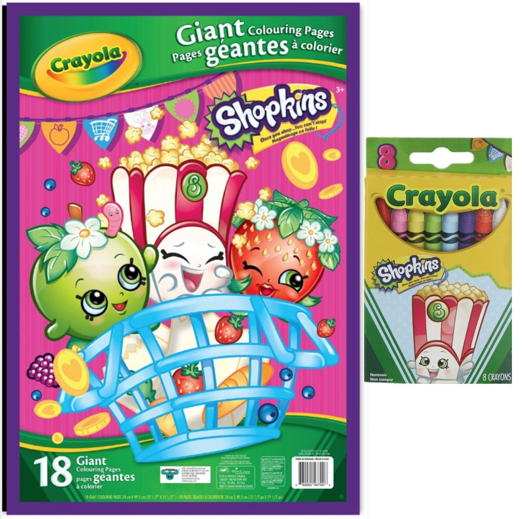 Buy shopkins coloring set with 16 giant coloring pages and shopkins crayons online at low prices in india amazon in
