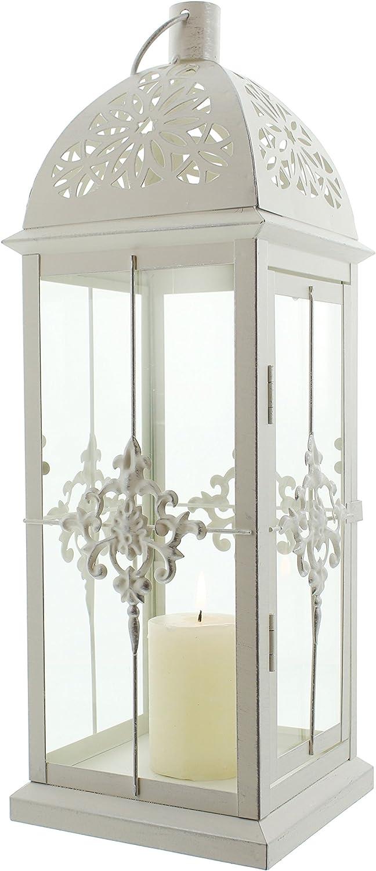 Baroque Style Metal Lantern, White: Amazon.es: Hogar