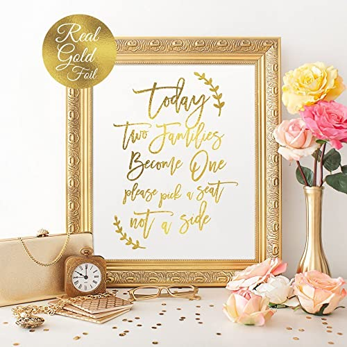 Amazon Today Two Families Become One Wedding Signs Wedding