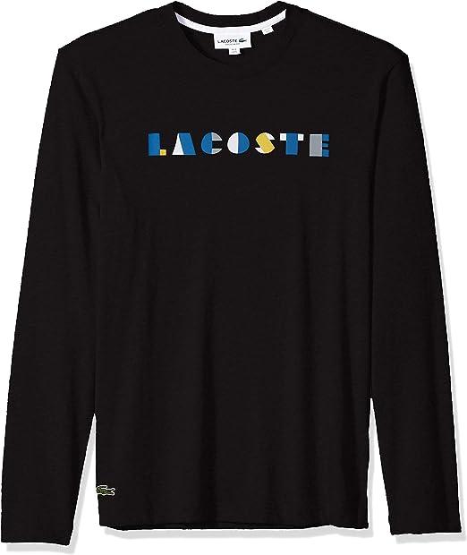 Lacoste Mens Long Sleeve Letter Block Graphic Sweatshirt