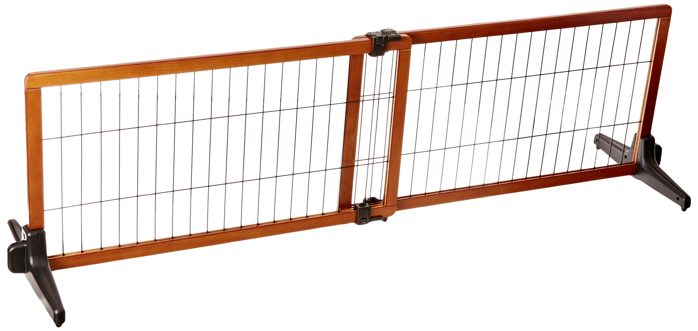 Carlson 68-Inch Wide Adjustable Freestanding Pet Gate, Premium Wood by Carlson Pet Products (Image #2)