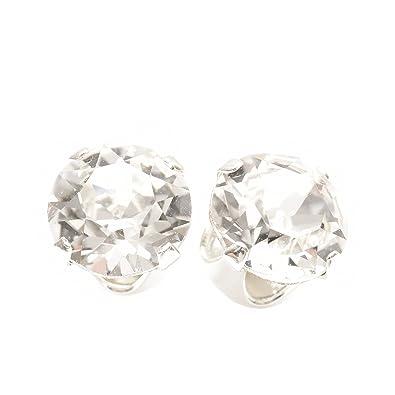 pewterhooter Large 9mm stud earrings made with sparkling diamond white crystal from SWAROVSKI®. 4hRpdqS