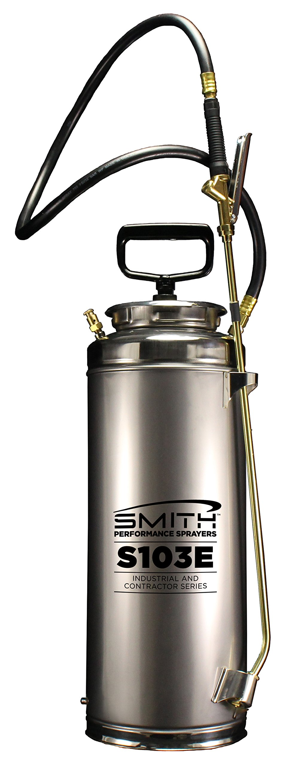 Smith Performance Sprayers S103E 3.5-Gallon Stainless Steel Concrete Sprayer for Solvent or Water-Based Cleaners, Sealers, Release Agents and Curing Compounds