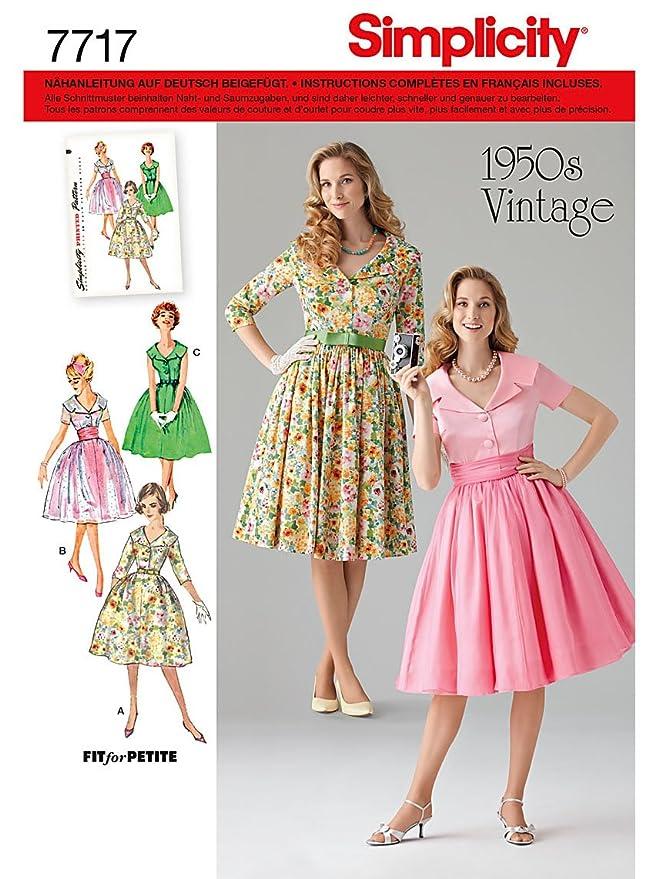 Simplicity Schnittmuster 7717.U5 Kleid: Amazon.de: Küche & Haushalt