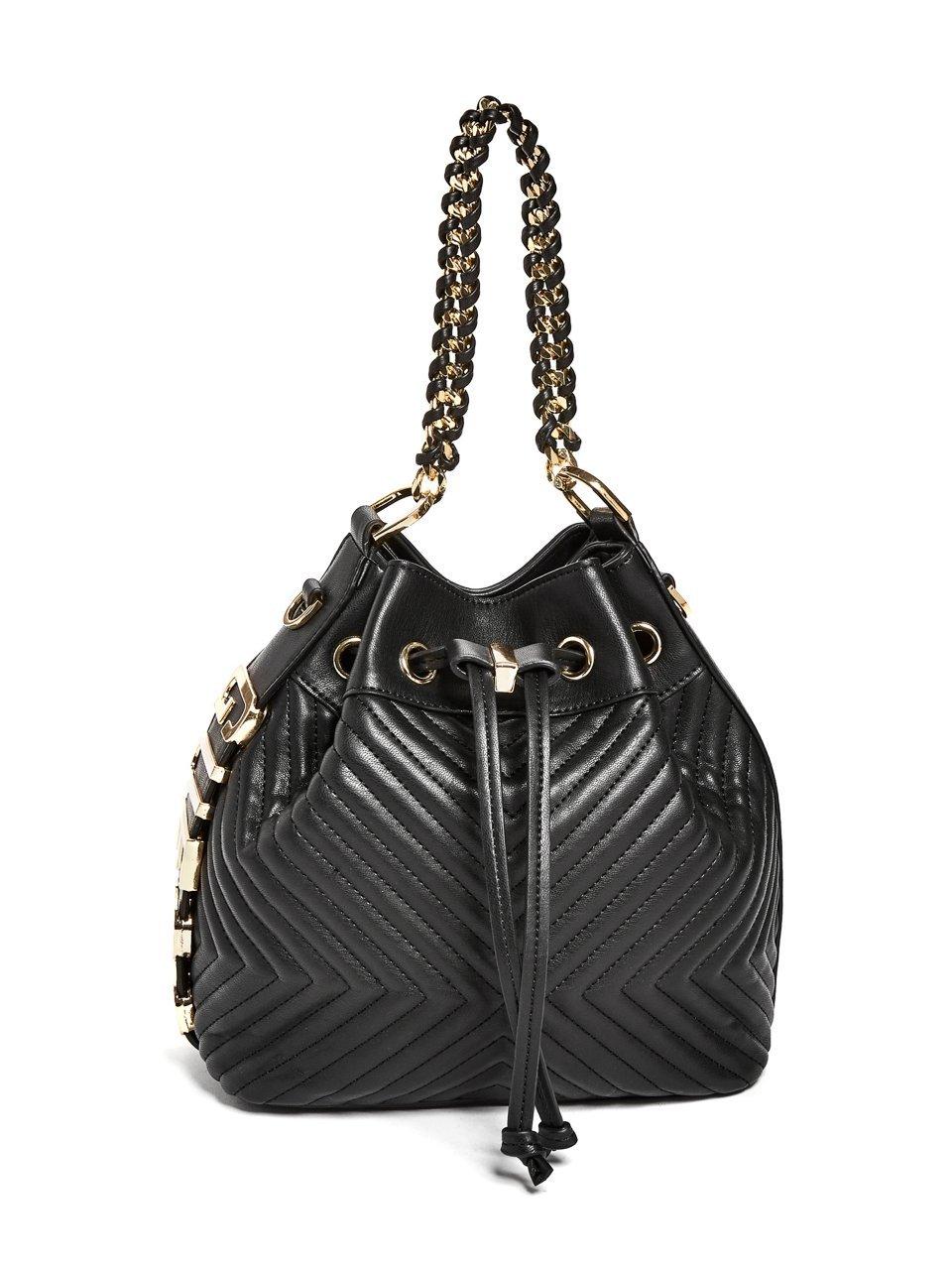 GUESS Women's Eliza Chain Mini Bucket Bag
