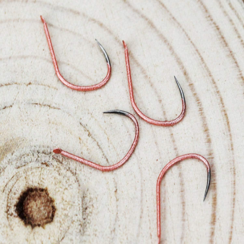 Set Titanlegierung Angelhaken Ohne Widerhaken 1# 100PCS 8# Serie In Fly Fishhooks Wurm Teichhalter Jig Hole Zubeh/ör
