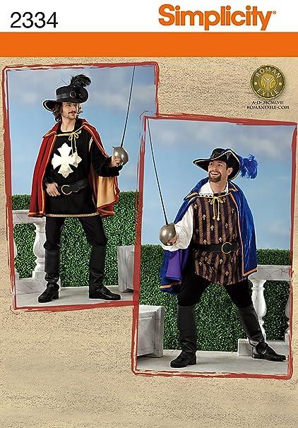Amazon.com  Simplicity 2334 Sew Pattern MEN S COSTUME Men s ... a674521dca9