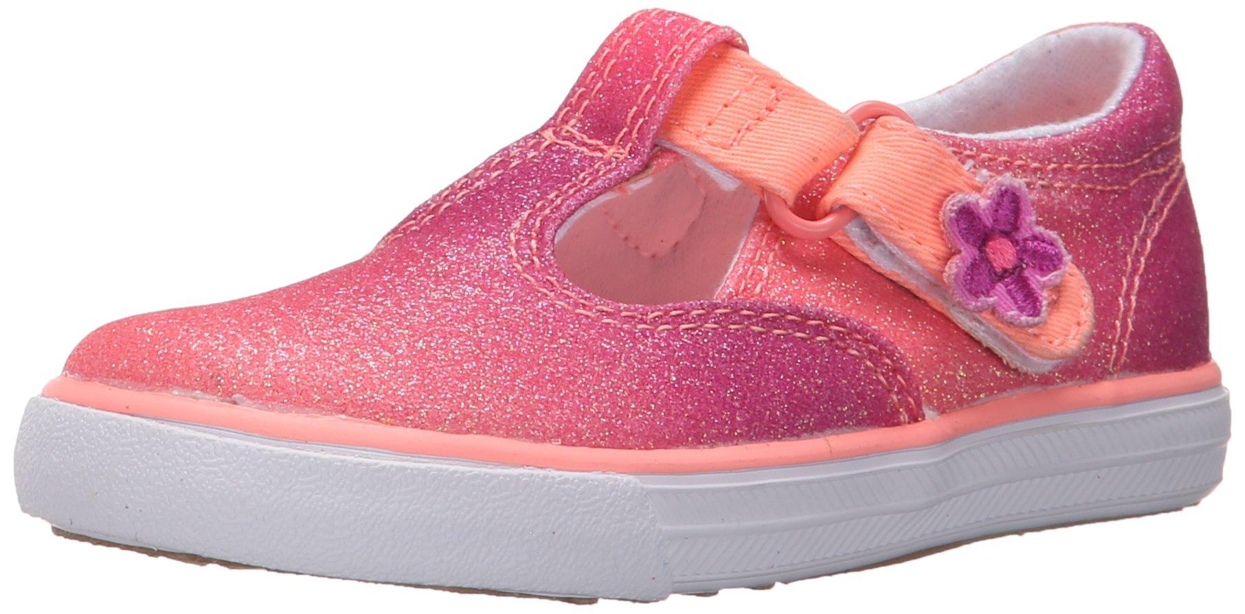 Keds Daphne T-Strap Sneaker (Toddler/Little Kid), Coral Fade Sugar Dip, 5.5 M US Toddler