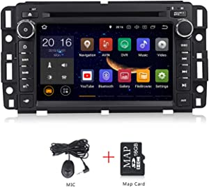 Android 10.0 System Car Radio 7 inch Double Din Touch Screen DVD Player for GMC Chevy Silverado 1500 2012 in Dash Navigation Quad Core Double Din in Dash Touchscreen FM/AM Radio Head Unit
