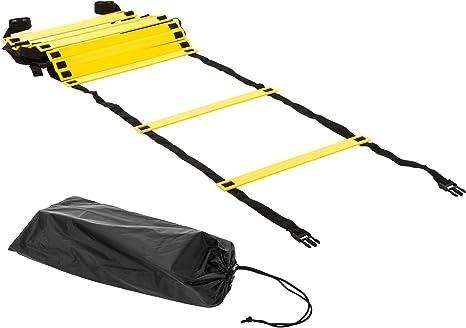 Ultrasport - Escalera de coordinación, Color Amarillo, Aprox. 6 Metros de Longitud: Amazon.es: Deportes y aire libre