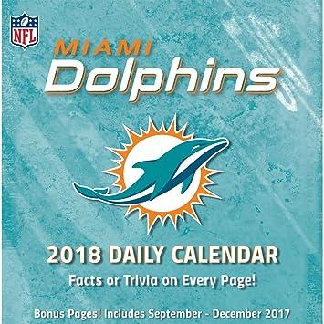 Miami Delfines escritorio calendario: Amazon.es: Oficina y papelería