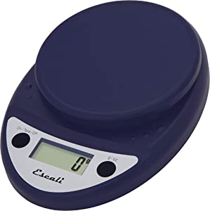 Escali Primo P115NB Precision Kitchen Food Scale for Baking and Cooking, Lightweight and Durable Design, LCD Digital Display, Lifetime ltd. Warranty, Royal Blue