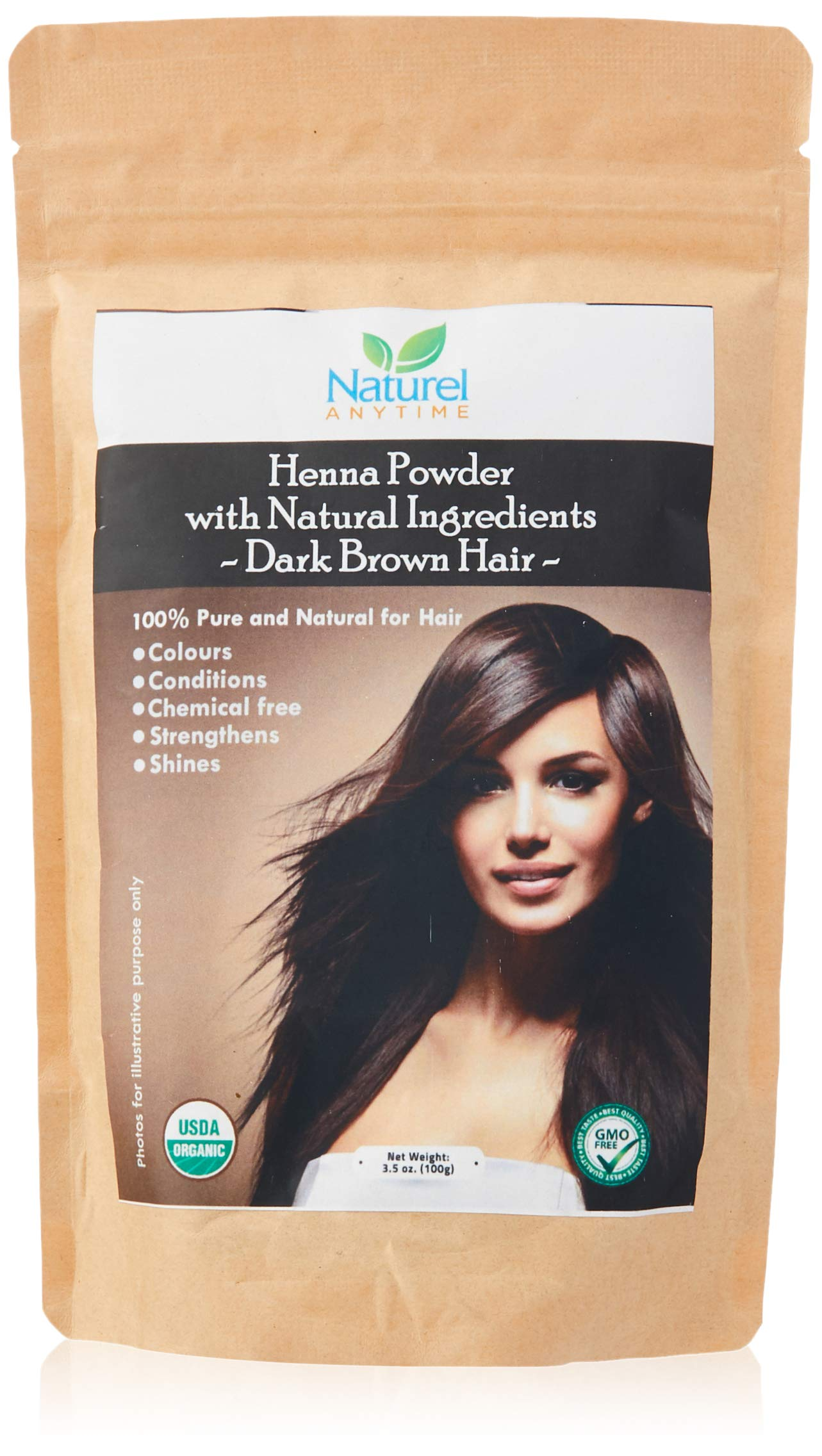 Organic(USDA,GMP) Henna for Dark Brown,Reddish Brown Colour Hair, people with more grey will need more Indigo for healthier hair (Read FULL listing, must strand test) CPSReports certified in UK/EU